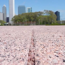 Sunset Pink Permeable Paver Grit - Buckingham Fountain