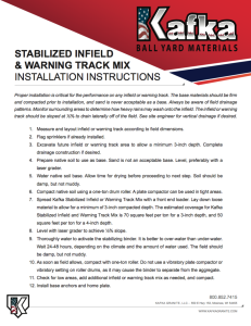 Stabilized Infield Installation Guide