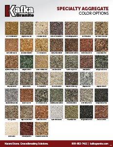 Kafka Architectural Aggregates Color Chart
