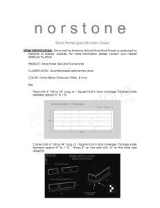 Standard Rock Panel Spec Sheet