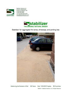 Stabilizer Solutions Vehicular Installation Guide