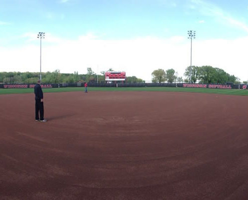 Burma Red Hilltopper Infield - UW Madison Softball - Madison, WI