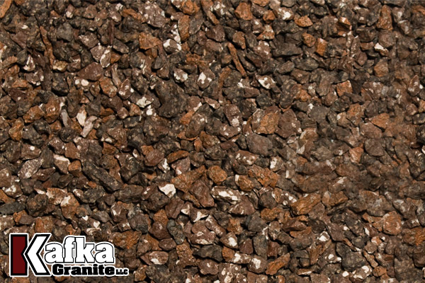 Chocolate Brown Granite : Permeable paver grit aggregate in over colors kafka