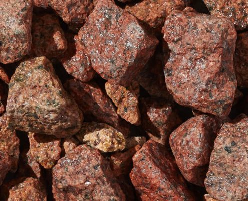 Ruby Red Granite Sand & 1 1/4""