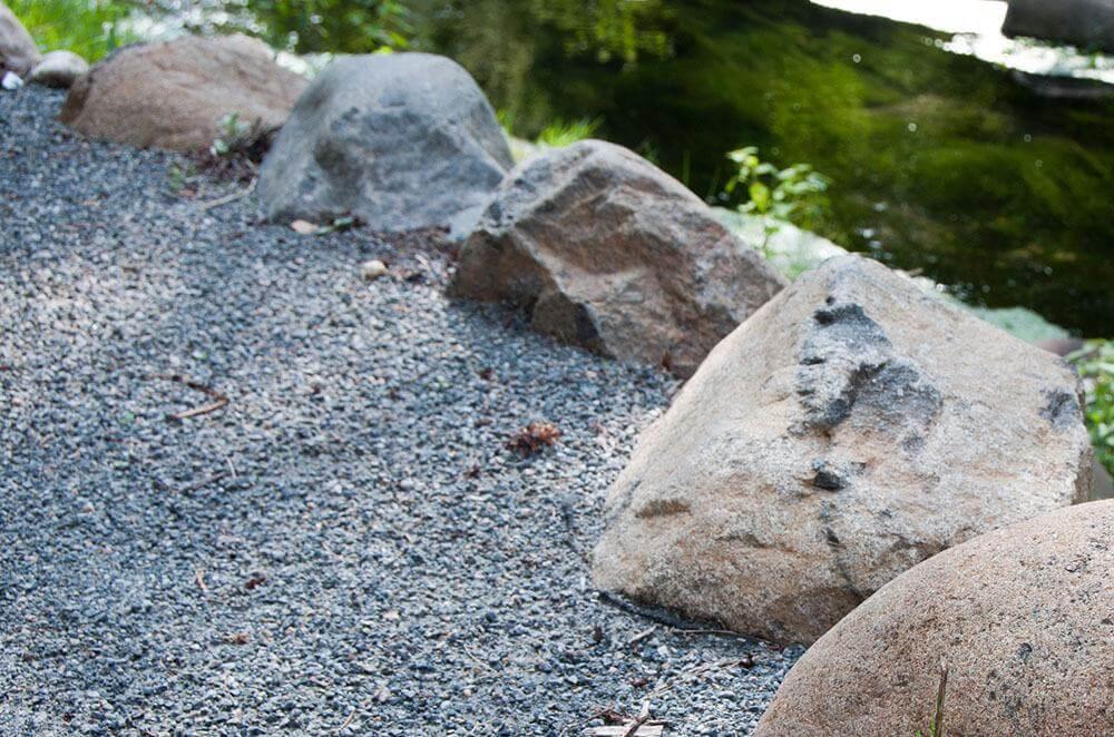 Wisconsin Granite Boulders - Max McGraw Wildlife Reserve - Dundee, IL