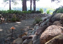 Wisconsin Granite Boulders - Private Residence, WI