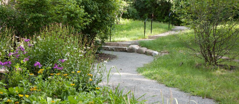 Midnight Blue Granite Stabilized Pathway - Max McGraw Wildlife Foundation - Dundee, IL