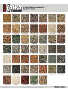 Kafka Granite Epoxy Overlay Aggregate Color Chart