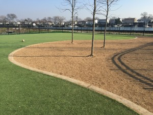 Desert Spar Gold Granite Stabilized Pathway Mix - Bay Park Dog Park - East Rockaway, NY - Installed by Laser Industries