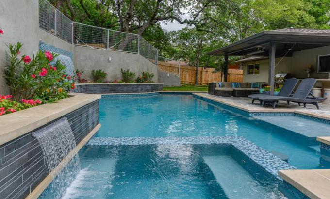 stone pool tile