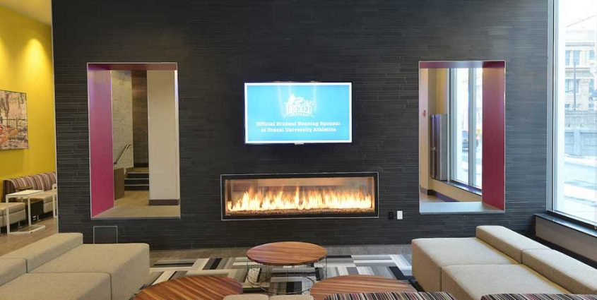 basalt tile accent wall