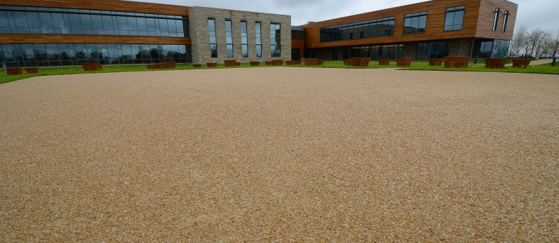 Caramel Quartzite Stabilized Pathway - Grande Cheese Headquarters & Research Center - Fond du Lac, WI