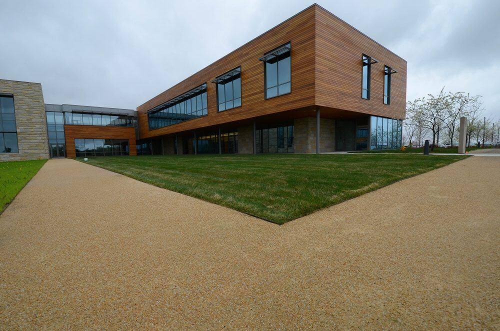Caramel Quartzite Stabilized Pathway - Grande Cheese Headquarters & Research Center - Fond du Lac, WI