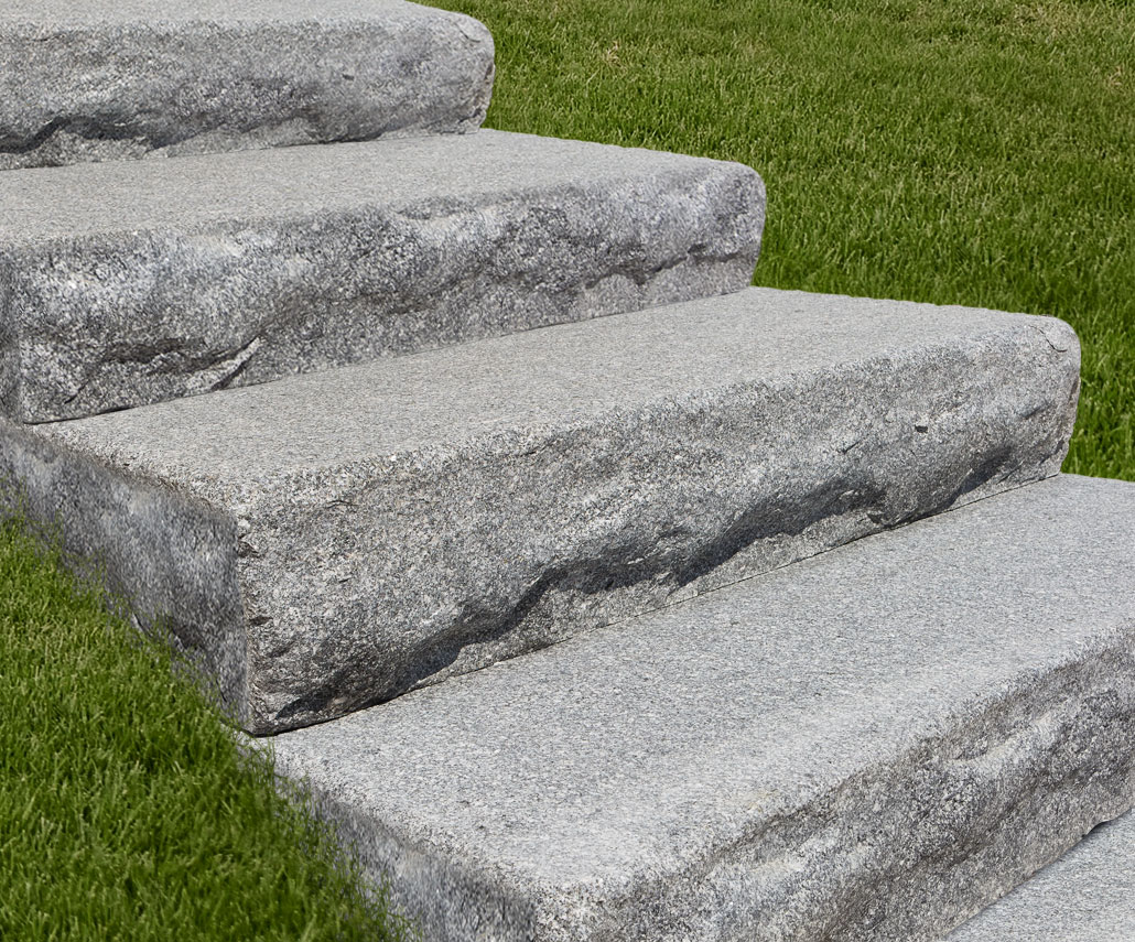 Imperial Gray Granite Thermal-Top Steps