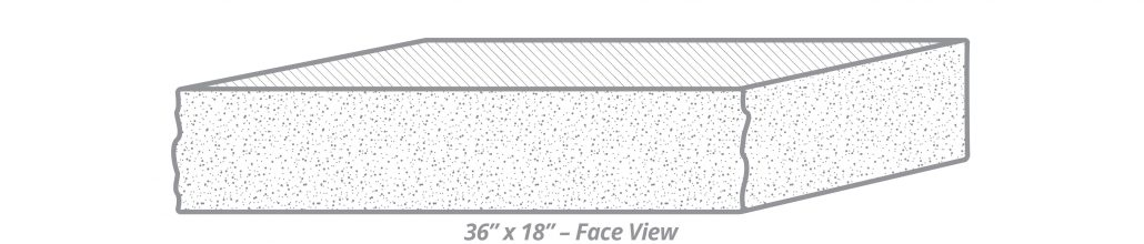 "Thermal-Top Step 36"" x 18"" Face View"