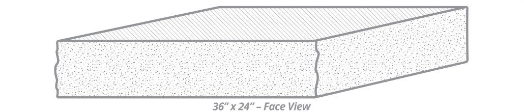 "Thermal-Top Step 36"" x 24"" Face View"