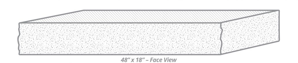"Thermal-Top Step 48"" x 18"" Face View"