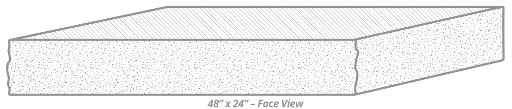 "Thermal-Top Step 48"" x 24"" Face View"