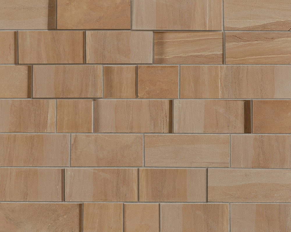 Harvest Gold Sandstone - Sawn Dimensional with Mortar Joint