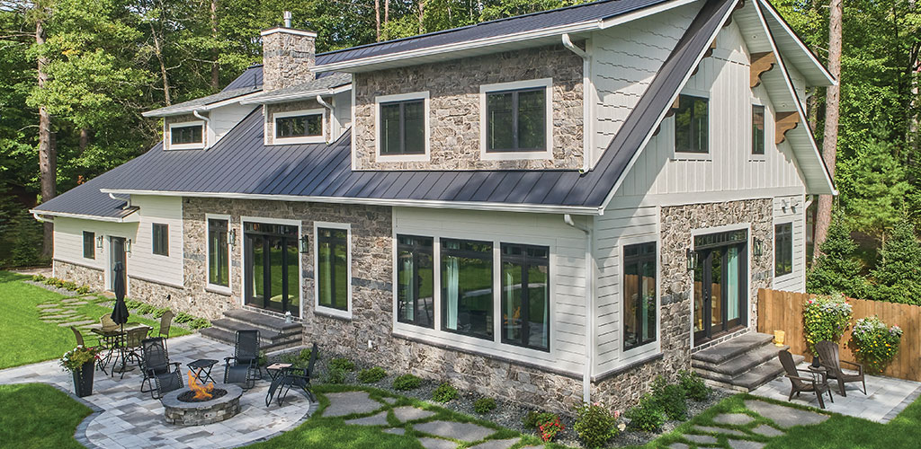 Galaxy Glitter and Ebony Glitter Thin Stone Veneer, and Starlight Black Granite Sills, Caps, Treads, Thermal Flagstone, Thermal-Top Steps, Hearth Stone, and Mantel.