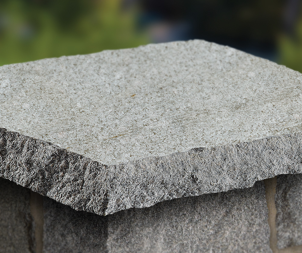 Imperial Gray Granite Treads, Caps, and Coping