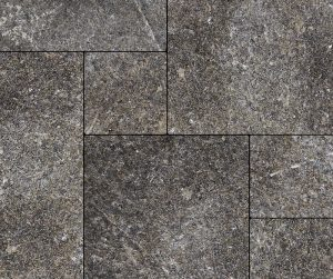 Starlight Black Granite Pattern Thermal Flagstone