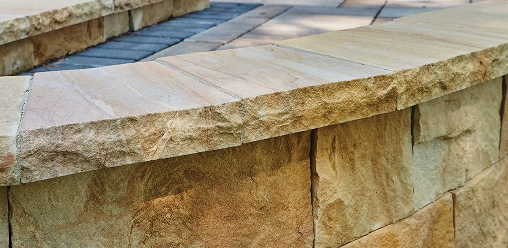 Harvest Gold Sandstone Sawn Cut Drywall and Caps